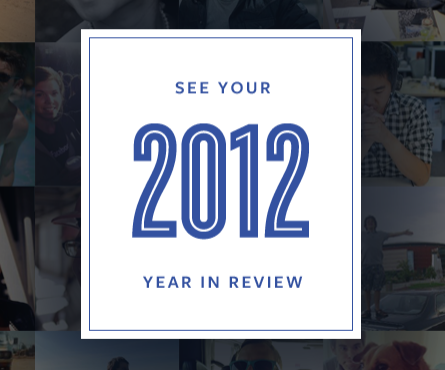 Facebook Year in Review 2012 Launched