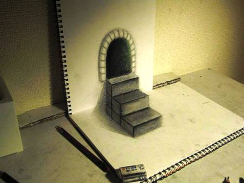 amazing 3d paper drawing