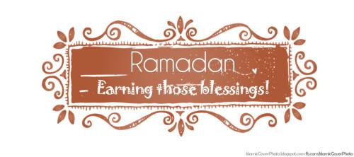Ramadan kareem Earning Sawab